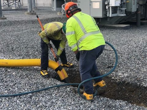 Hydro excavation is a sophisticated process of digging trenches or holes through the use of highly pressurized, heated streams of water to break up the soil.